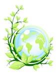 Groene aarde met installatie royalty-vrije illustratie