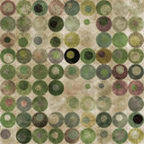 Groene abstracte cirkelsachtergrond Royalty-vrije Stock Foto's