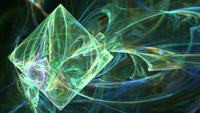 Groene abstracte de motieachtergrond van het dimondpatroon vector illustratie