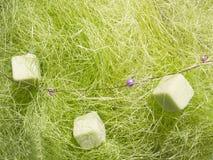 Groene abstracte decoratievezel Stock Afbeelding