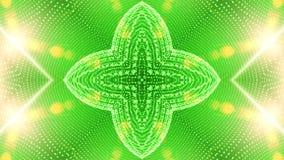 Groene abstracte die achtergrond uit vele kleine elementen 2 wordt samengesteld royalty-vrije illustratie