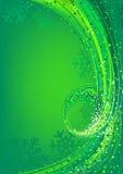 Groene Abstracte Kerstmisgroet vector illustratie
