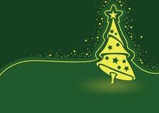 Groene Abstracte Kerstmisillustratie Als achtergrond royalty-vrije illustratie