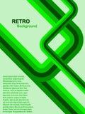 Groene Abstracte Retro Achtergrond Stock Foto