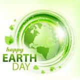 Groene abstracte vectorachtergrond met Aarde Stock Afbeelding