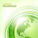Groene abstracte vectorachtergrond met Aarde Stock Fotografie