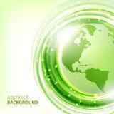 Groene abstracte vectorachtergrond met Aarde Royalty-vrije Stock Foto's