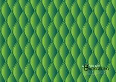 Groene abstracte vectorillustratie als achtergrond, de lay-out van het dekkingsmalplaatje, bedrijfsvlieger, de luxe van de Leerte vector illustratie