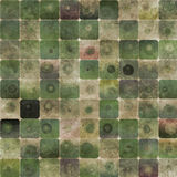 Groene abstracte vierkantenachtergrond Stock Afbeeldingen