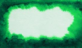 Groene abstracte waterverfachtergrond Stock Foto