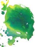 Groene abstracte waterverfachtergrond Stock Afbeelding