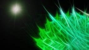 Groene abstracte ziekte onder microscoop Stock Fotografie