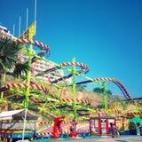 Groene achtbaan Stock Afbeeldingen