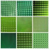 Groene achtergrond - collage Stock Fotografie