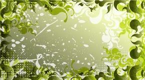 Groene achtergrond in een grungestijl Royalty-vrije Stock Afbeelding