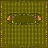 Groene achtergrond met bladeren en bloemkader Royalty-vrije Stock Foto's