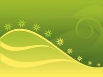 Groene achtergrond met bloem Stock Foto's