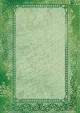 Groene achtergrond met frame Royalty-vrije Stock Foto's