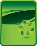 Groene achtergrond met kringloopsymbool stock illustratie