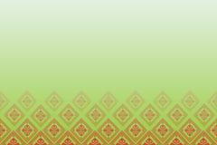 Groene achtergrond met lijn van diamanten Stock Fotografie