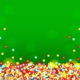 Groene achtergrond met multicolored bloemen royalty-vrije illustratie