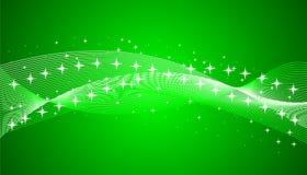 Groene achtergrond met sterren vector illustratie