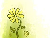Groene achtergrond met tekening Royalty-vrije Stock Foto's