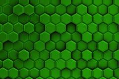 Groene achtergrond met textuur van zeshoeken Royalty-vrije Stock Afbeelding