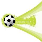 Groene achtergrond met voetbalbal Stock Foto's