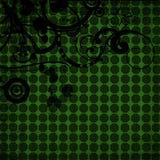 groene achtergrond met vormen Royalty-vrije Stock Fotografie