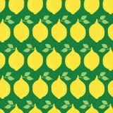 Groene achtergrond van het citroenen de vector naadloze patroon vector illustratie