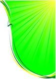 Groene achtergrond van stralen en lijnen Stock Foto
