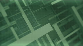 Groene achtergrond voor de titels van de bewegende lijnen en het net royalty-vrije illustratie