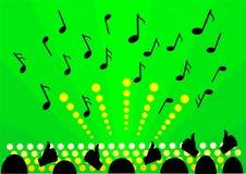 Groene achtergrondmuziek Stock Foto