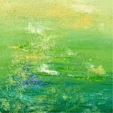 Groene acryl of olie geschilderde achtergrond Abstracte achtergrond Vector illustratie Stock Foto