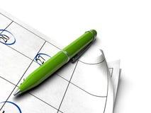 Groene agenda vector illustratie