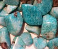 groene amazonite minerale inzameling royalty-vrije stock afbeeldingen