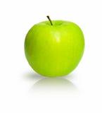Groene appel die op het wit wordt geïsoleerde Stock Afbeelding