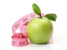 Groene appel en het meten van band Royalty-vrije Stock Fotografie