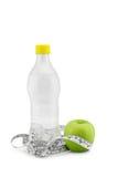 Groene appel en het meten van band Royalty-vrije Stock Foto's