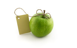 Groene appel met kaart Royalty-vrije Stock Foto