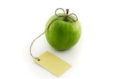 Groene appel met kaart Stock Foto's