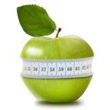 Groene appel met meting royalty-vrije stock foto