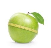 Groene appel met meting Stock Foto