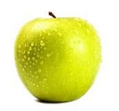 Groene appel met waterdalingen Royalty-vrije Stock Afbeeldingen