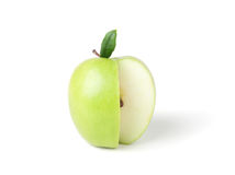 Groene appel op een witte achtergrond. Stock Fotografie