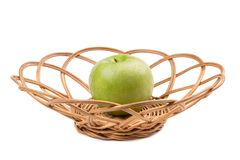 Groene appel in rijs royalty-vrije stock afbeeldingen