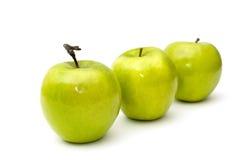 Groene appelen. Stock Fotografie