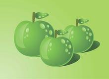 Groene appelen met water dropss Royalty-vrije Stock Foto