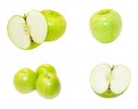 Groene appelen met waterdalingen Royalty-vrije Stock Fotografie